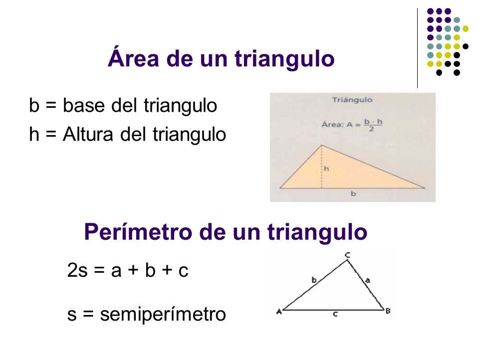 Perímetro de un triangulo