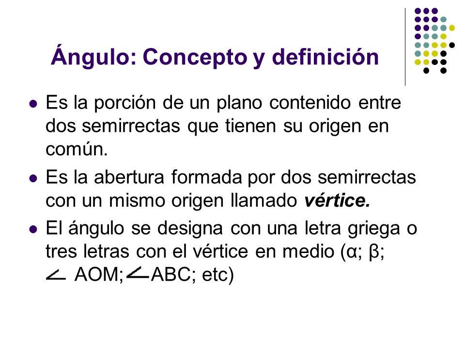 Ángulo: Concepto y definición