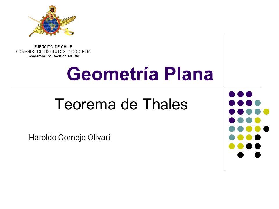 Teorema de Thales Haroldo Cornejo Olivarí