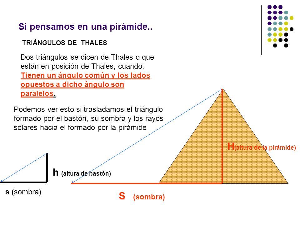 Si pensamos en una pirámide..