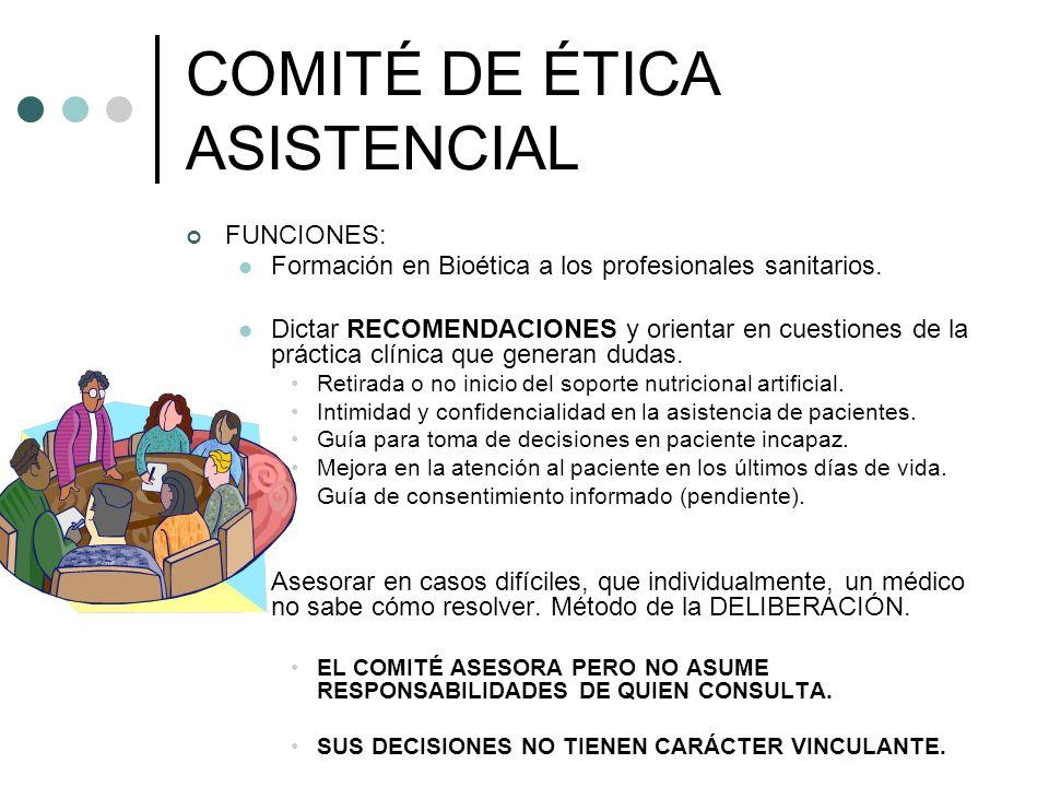 COMITÉ DE ÉTICA ASISTENCIAL