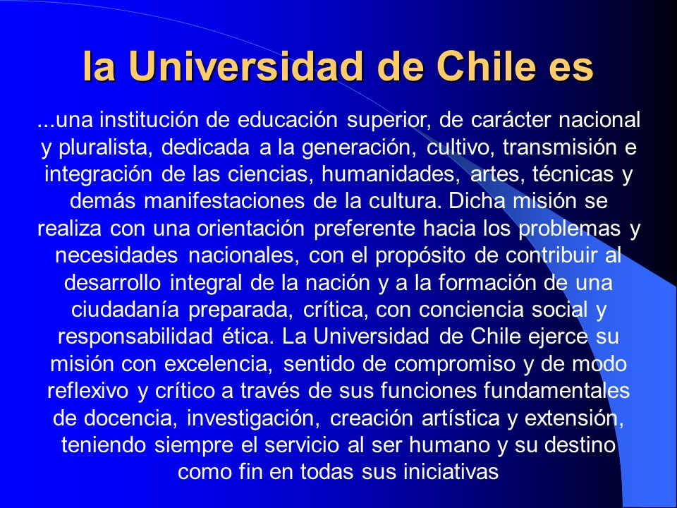 la Universidad de Chile es