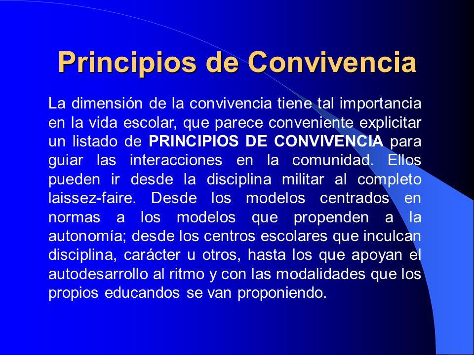 Principios de Convivencia