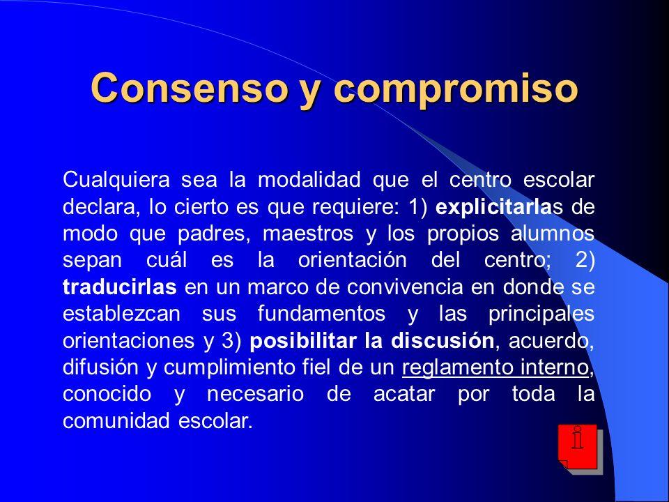 Consenso y compromiso