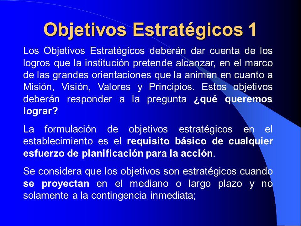 Objetivos Estratégicos 1