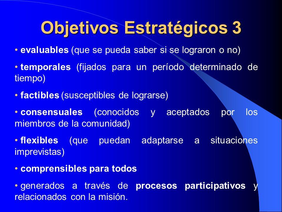 Objetivos Estratégicos 3
