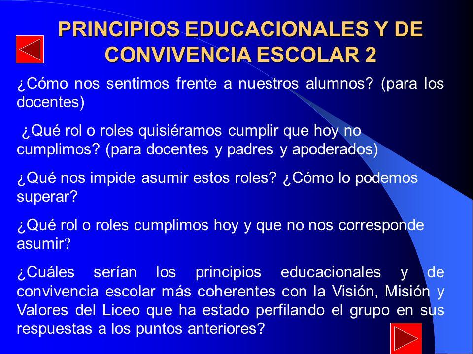 PRINCIPIOS EDUCACIONALES Y DE CONVIVENCIA ESCOLAR 2