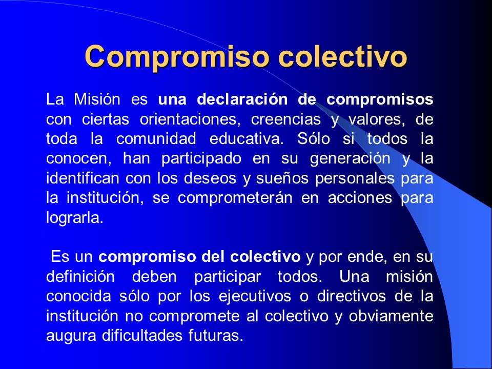 Compromiso colectivo