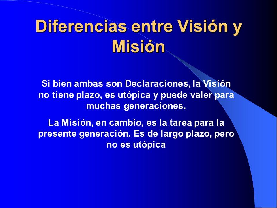 Diferencias entre Visión y Misión