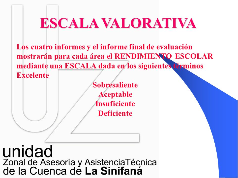 ESCALA VALORATIVA