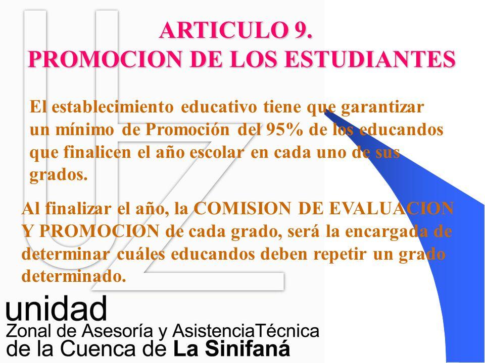 PROMOCION DE LOS ESTUDIANTES