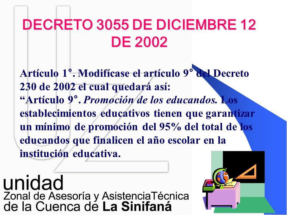 DECRETO 3055 DE DICIEMBRE 12 DE 2002