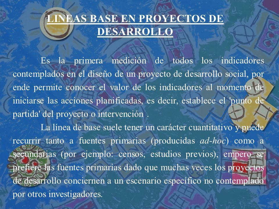 LINEAS BASE EN PROYECTOS DE DESARROLLO