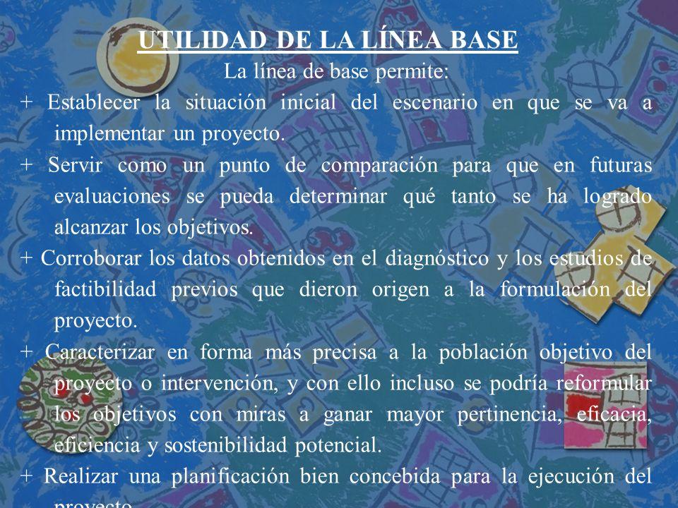 UTILIDAD DE LA LÍNEA BASE