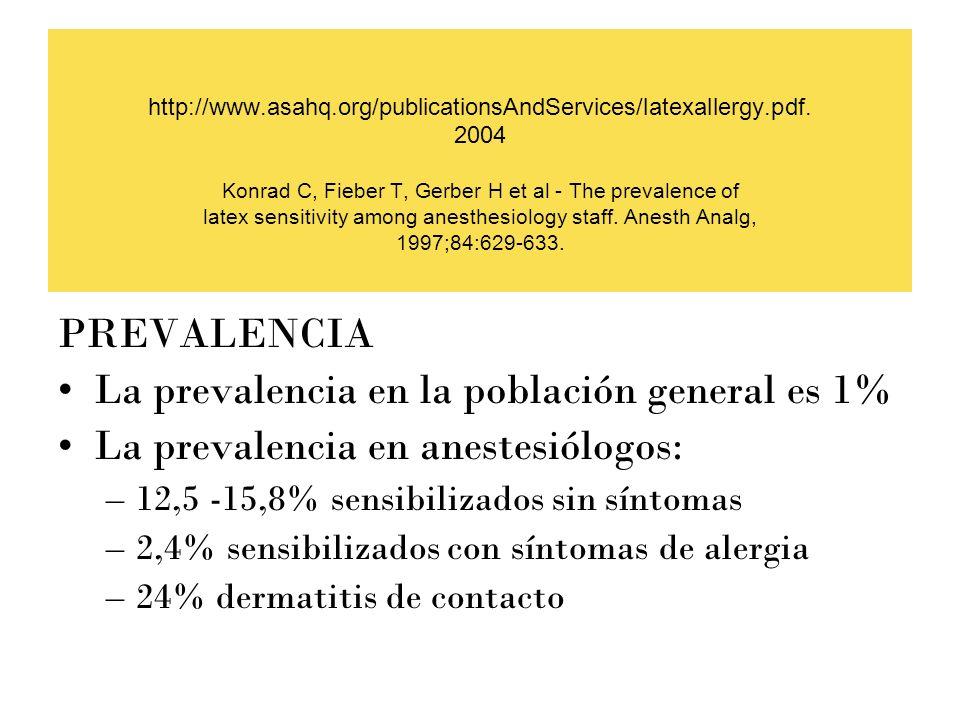 La prevalencia en la población general es 1%