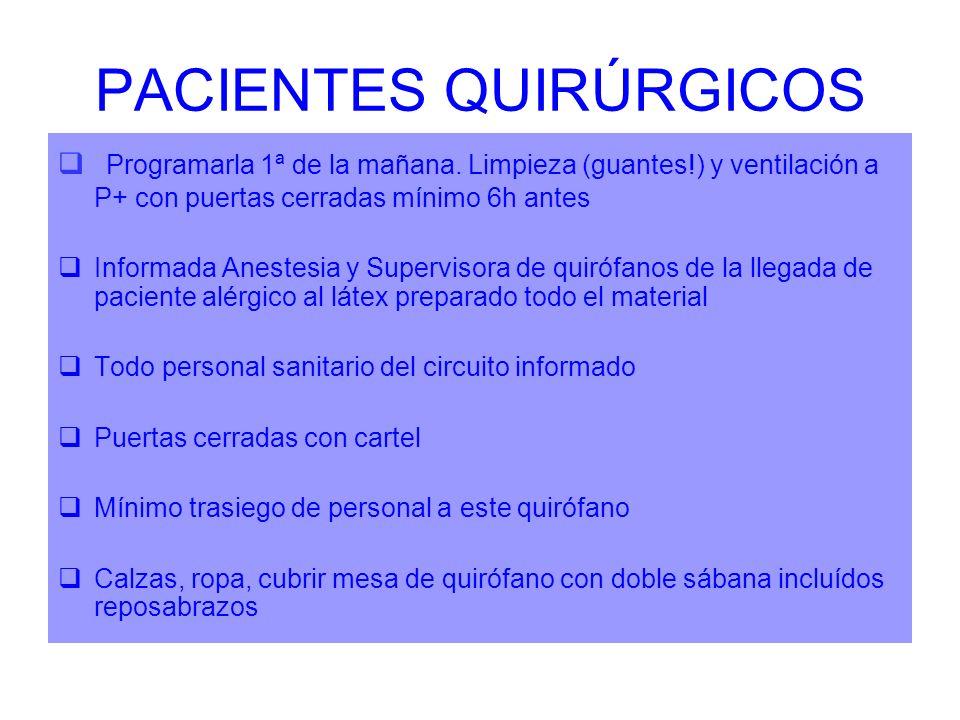 PACIENTES QUIRÚRGICOS