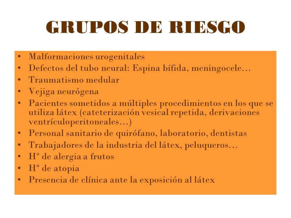 GRUPOS DE RIESGO Malformaciones urogenitales