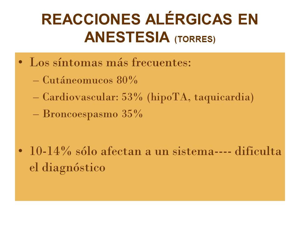 REACCIONES ALÉRGICAS EN ANESTESIA (TORRES)