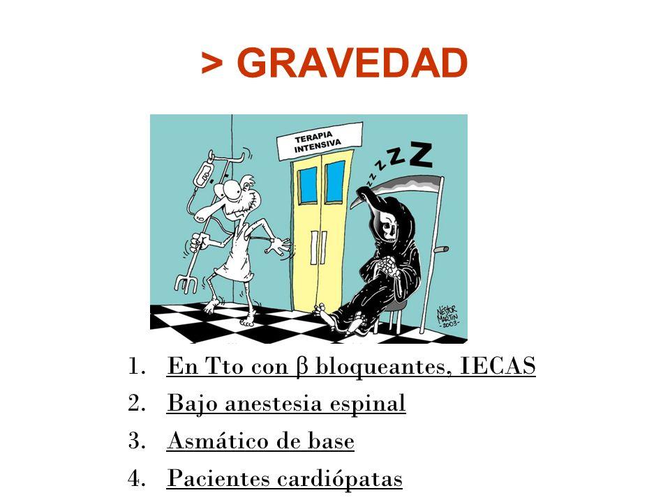 > GRAVEDAD En Tto con β bloqueantes, IECAS Bajo anestesia espinal