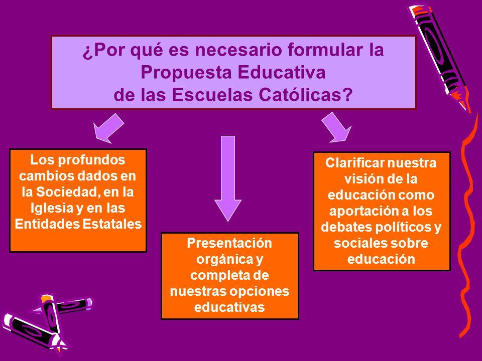 ¿Por qué es necesario formular la Propuesta Educativa