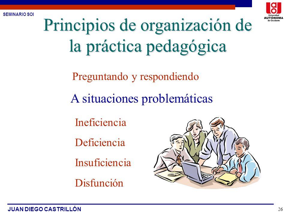 Principios de organización de la práctica pedagógica