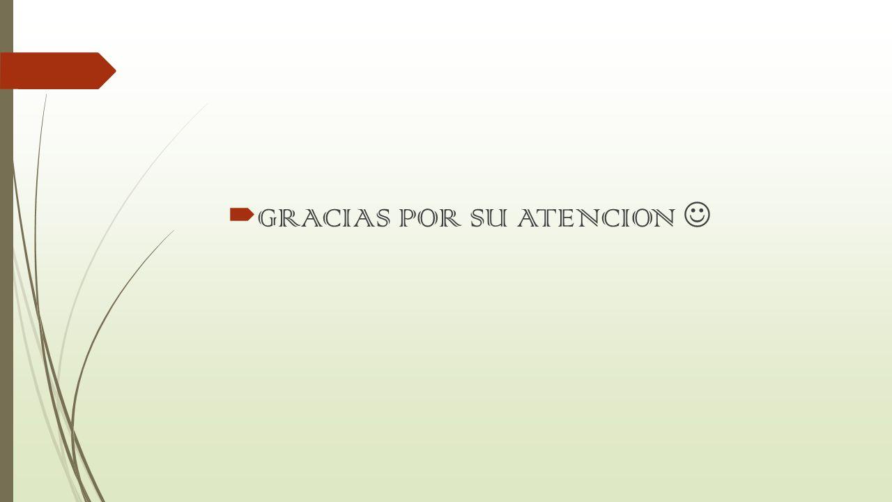 GRACIAS POR SU ATENCION 