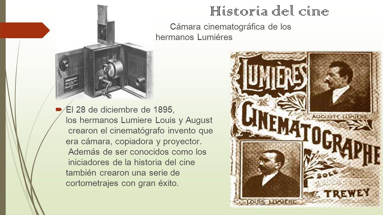 Historia del cine Cámara cinematográfica de los hermanos Lumiéres