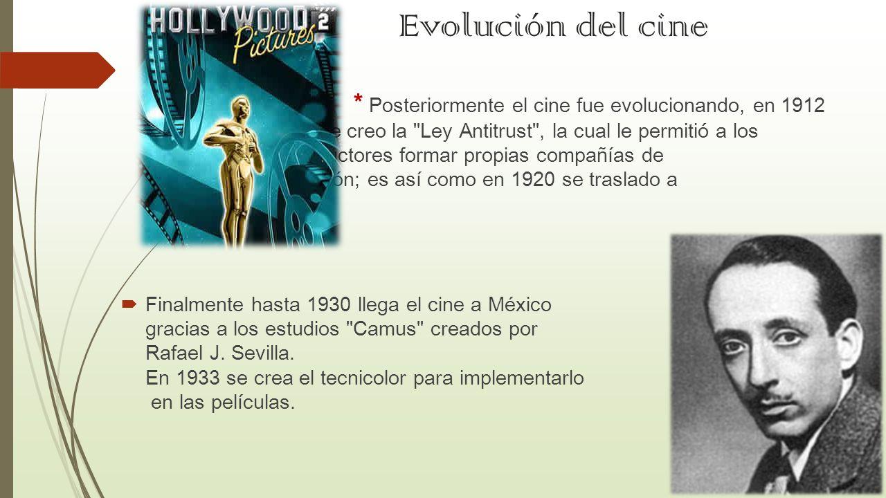 Evolución del cine
