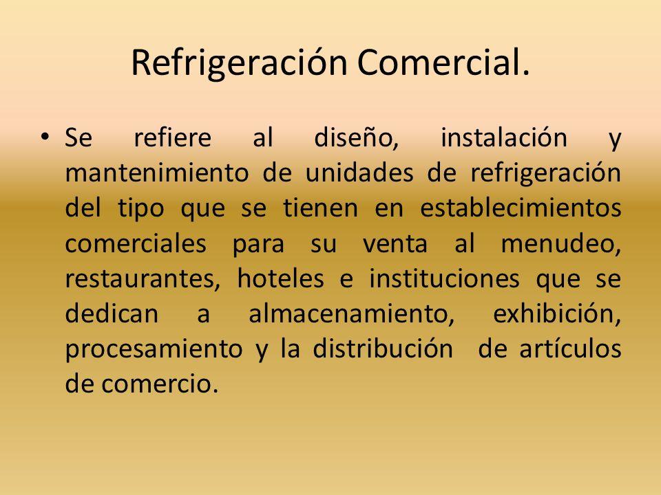 Refrigeración Comercial.