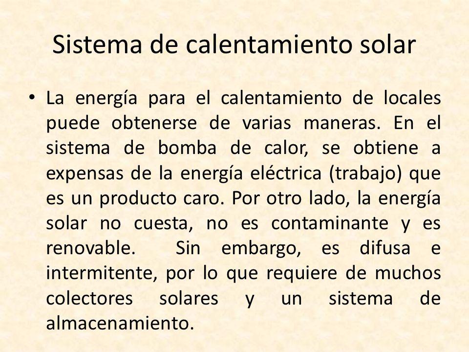 Sistema de calentamiento solar