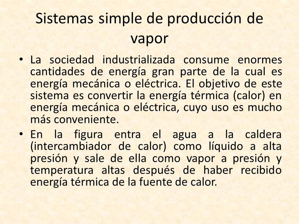 Sistemas simple de producción de vapor