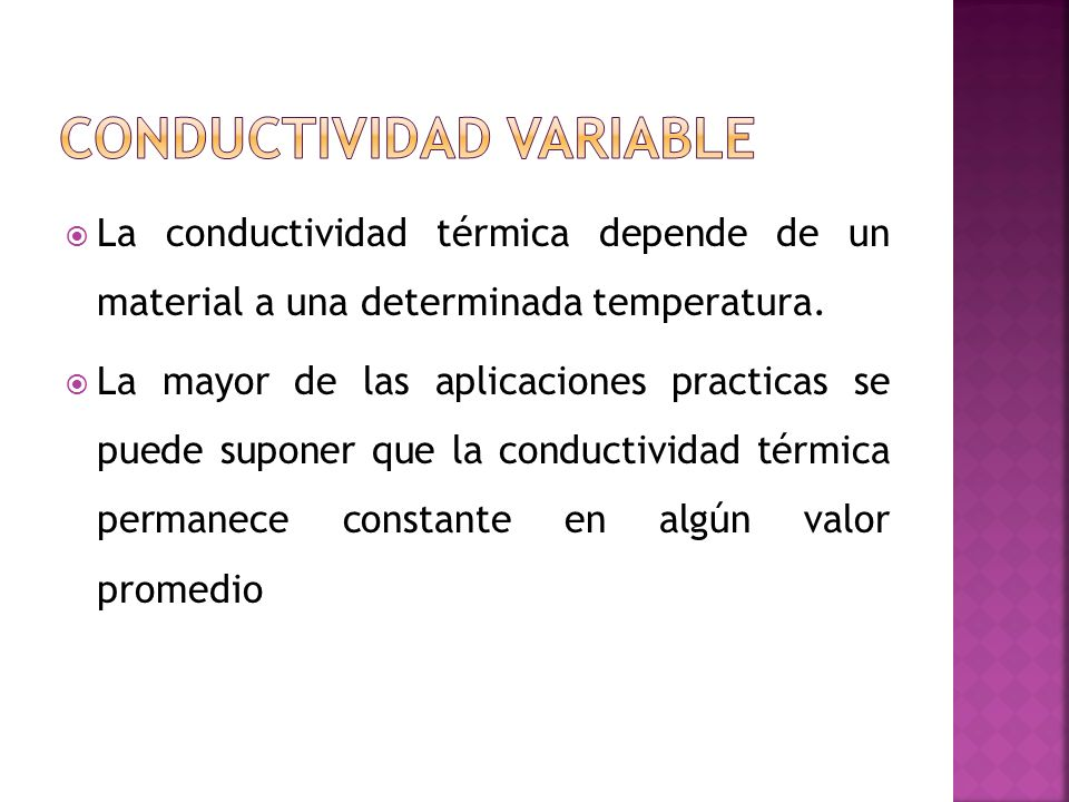 Conductividad Variable