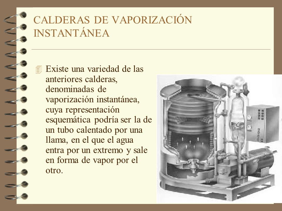 CALDERAS DE VAPORIZACIÓN INSTANTÁNEA