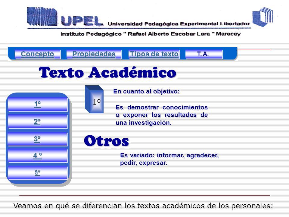 Veamos en qué se diferencian los textos académicos de los personales: