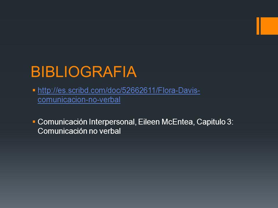 BIBLIOGRAFIA http://es.scribd.com/doc/52662611/Flora-Davis-comunicacion-no-verbal.