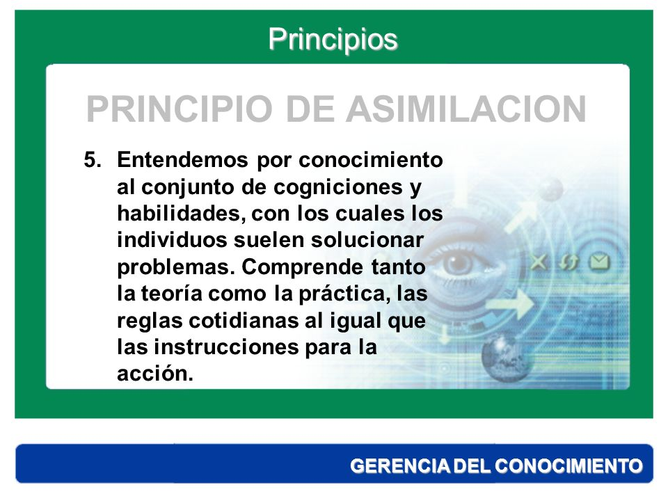 PRINCIPIO DE ASIMILACION