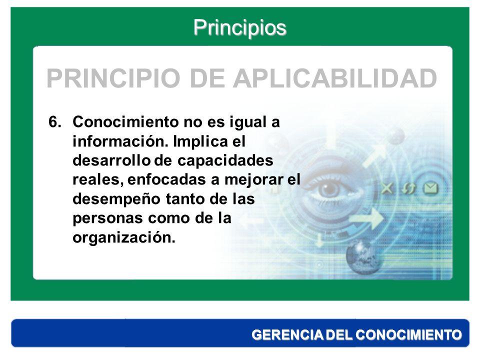 PRINCIPIO DE APLICABILIDAD