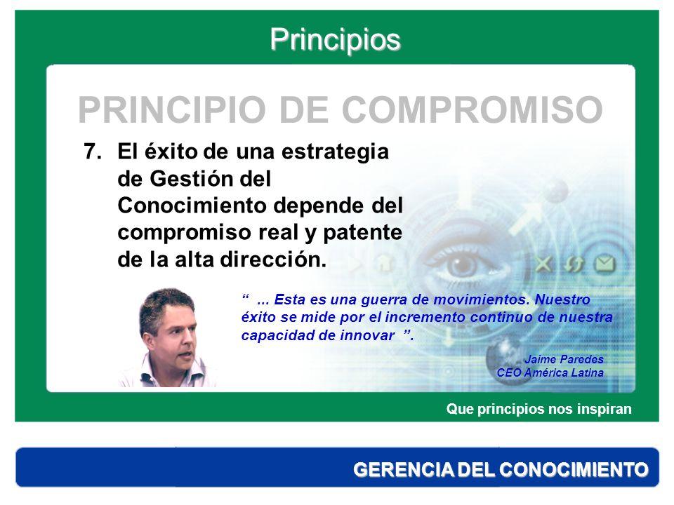PRINCIPIO DE COMPROMISO