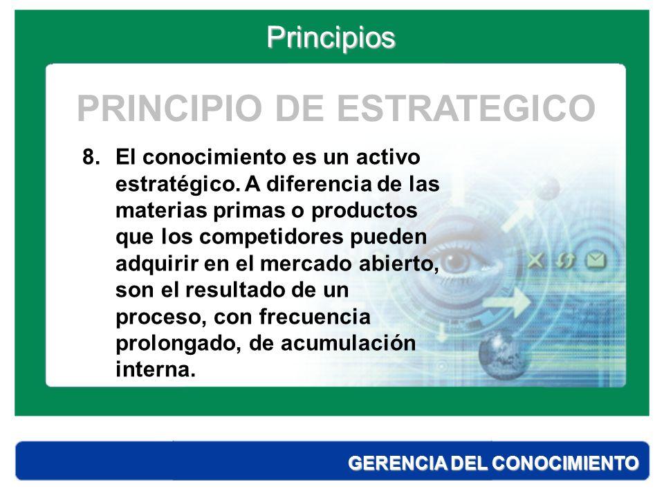 PRINCIPIO DE ESTRATEGICO