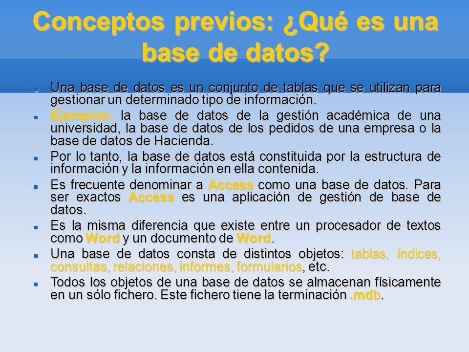 Conceptos previos: ¿Qué es una base de datos