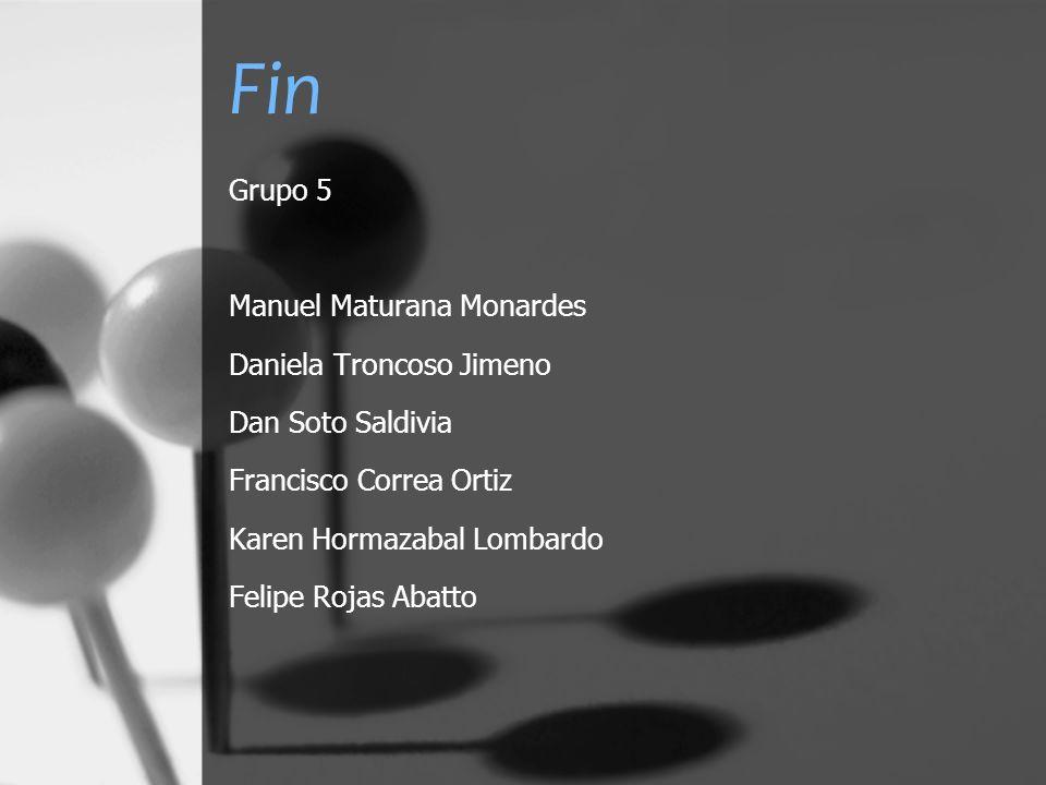 Fin Grupo 5 Manuel Maturana Monardes Daniela Troncoso Jimeno