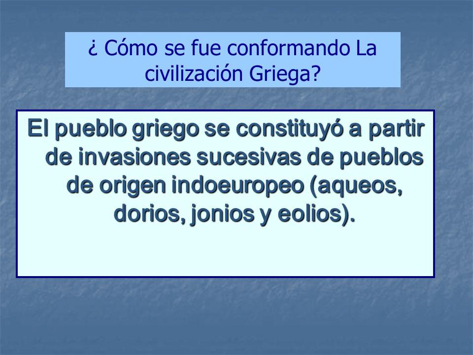 ¿ Cómo se fue conformando La civilización Griega
