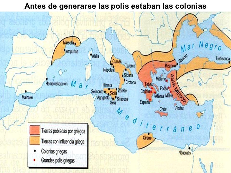 Antes de generarse las polis estaban las colonias