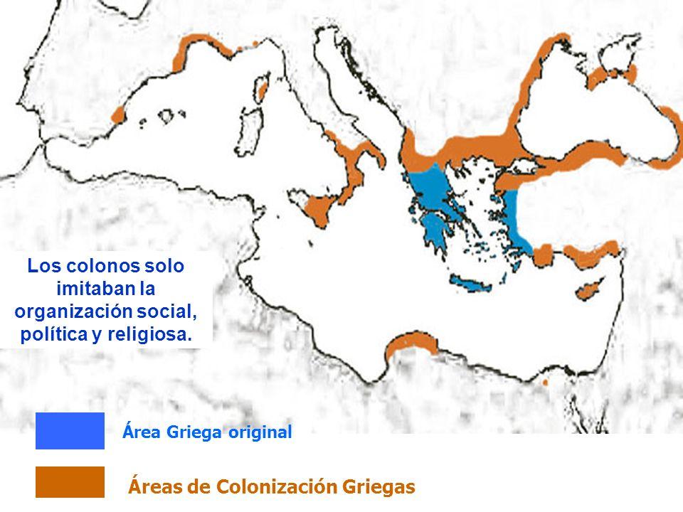 Áreas de Colonización Griegas