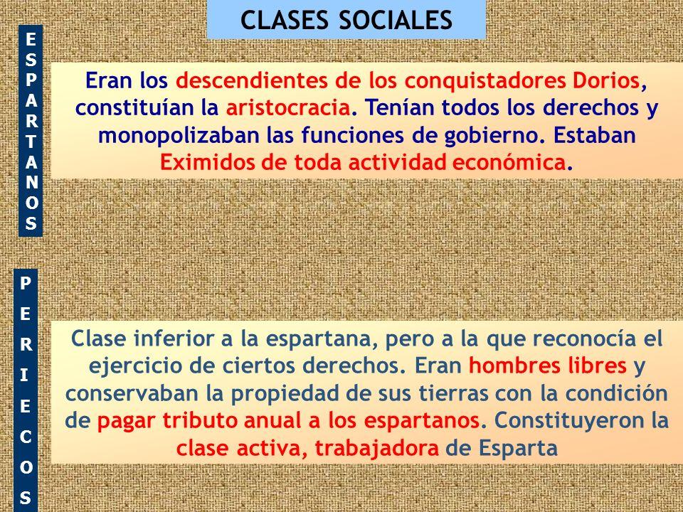 CLASES SOCIALES ESPARTANOS.