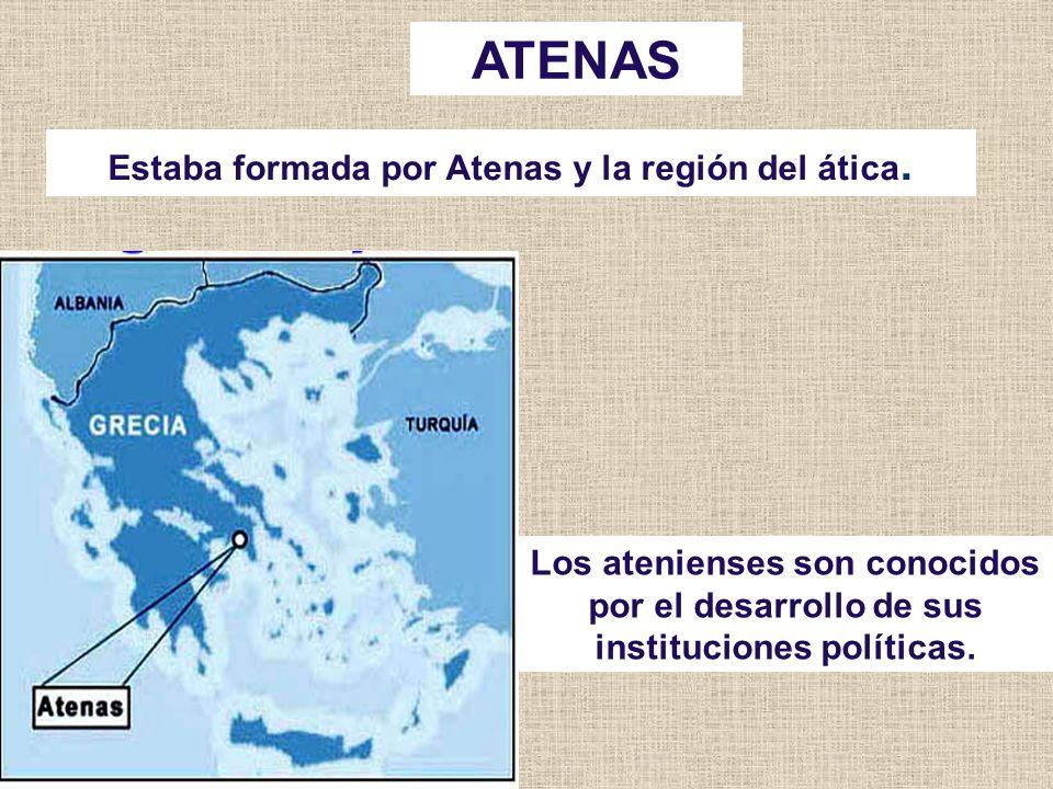 Estaba formada por Atenas y la región del ática.