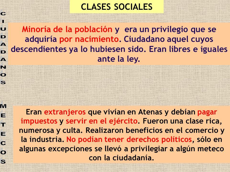 CIUDADANOS METECOS CLASES SOCIALES