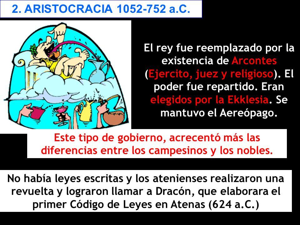 2. ARISTOCRACIA 1052-752 a.C.