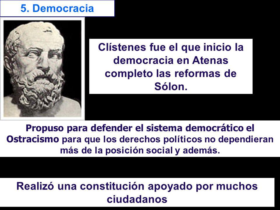 Realizó una constitución apoyado por muchos ciudadanos