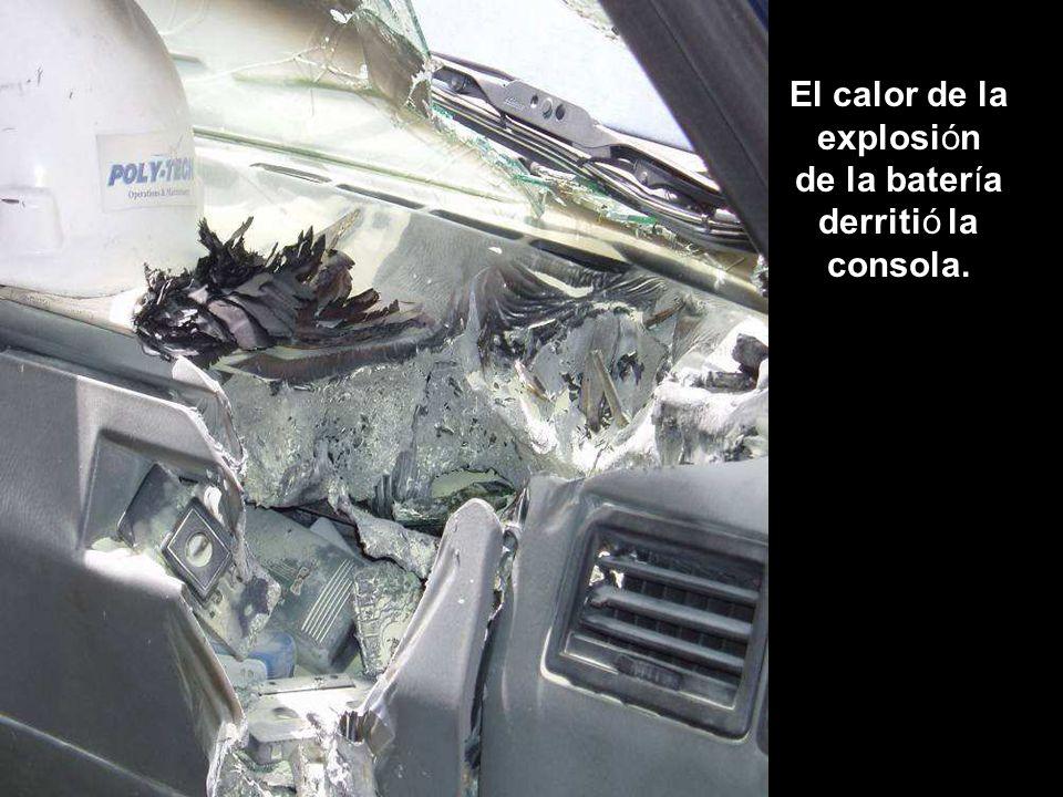 El calor de la explosión